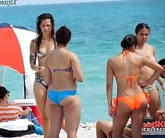 Latina bikini chicks in action